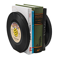 Recycled Record Bookends - Set of 2