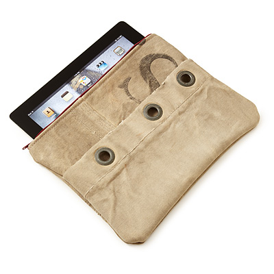 UPCYCLED MAIL SACK IPAD CASE