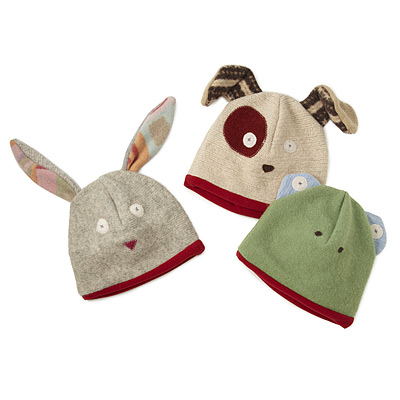 REPURPOSED SWEATER ANIMAL HATS
