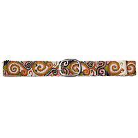SWIRL EMBROIDERED BELT