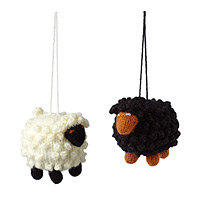 Black Sheep vs. White Sheep Ornaments - Set of 2
