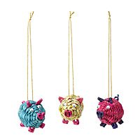 Pig Ornaments - Set of 3