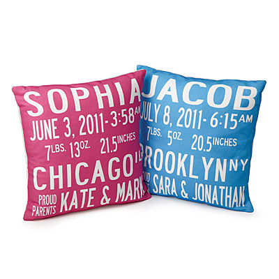 BIRTH ANNOUNCEMENT PILLOWS