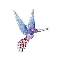 HANDBLOWN GLASS HUMMINGBIRD ORNAMENT
