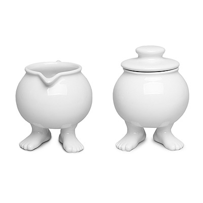 FOOTED SUGAR BOWL & CREAMER SET