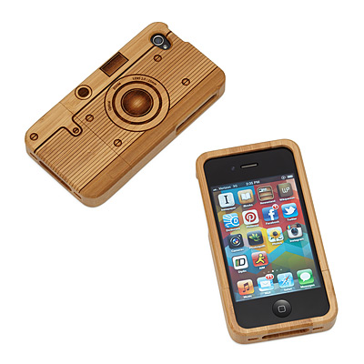 WOOD IPHONE CAMERA CASE