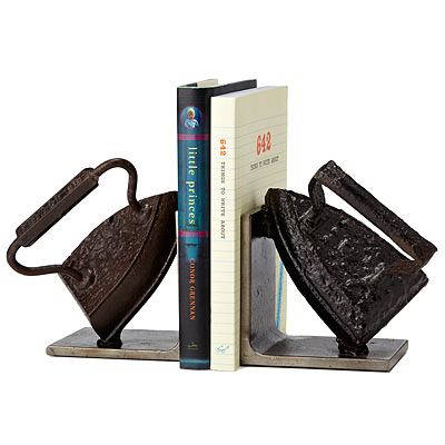 VINTAGE IRON BOOKENDS