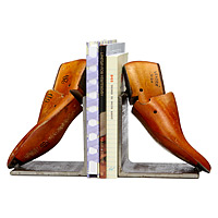 Vintage Shoe Form Bookends