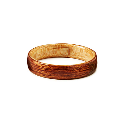 SAPELI MAHOGANY BENTWOOD MEN'S RING