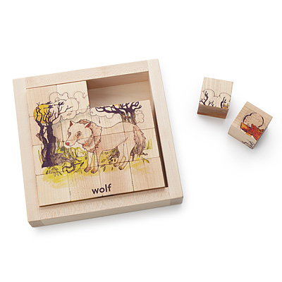 ILLUSTRATED ANIMAL WOODEN BLOCKS