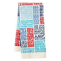 typographic tongue twister towel