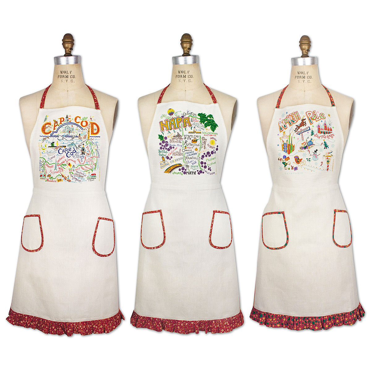 Kitchen Apron : REGION APRONS Regional Printed Kitchen Apron UncommonGoods