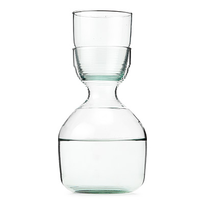 RECYCLED CARAFE AND GLASS