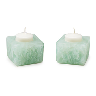 RECYCLED WINDOWPANE CANDLE HOLDERS - SET OF 2