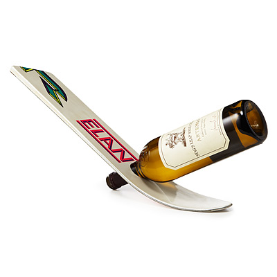 FLOATING SKI WINE BOTTLE RACK