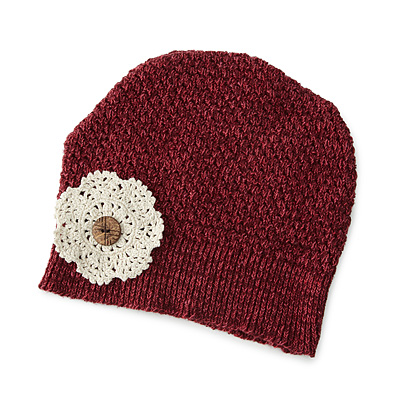 FLOWER DOILY HAT