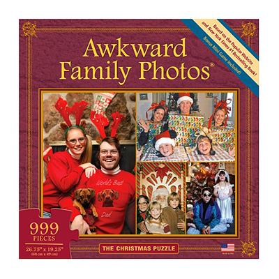 AWKWARD FAMILY PHOTOS CHRISTMAS PUZZLE