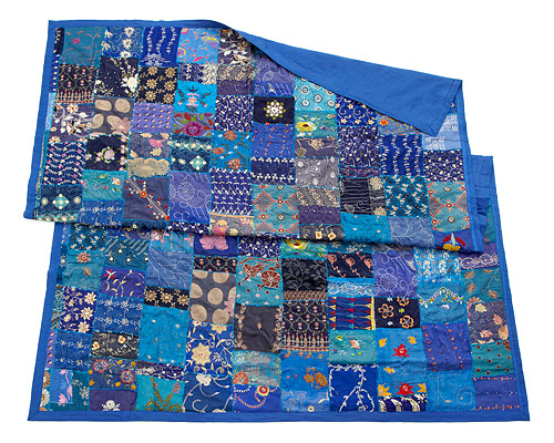 VINTAGE SARI PATCH THROW BLANKET