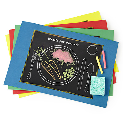 MEALTIME CHALKBOARD PLACEMATS