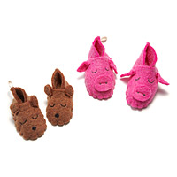 Piggy and Bear Storybook Slippers