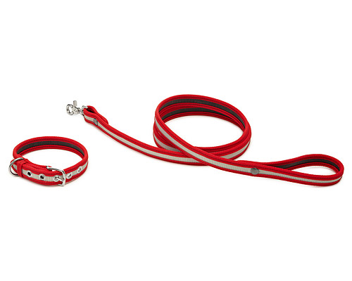 FIRE HOSE DOG COLLAR AND LEASH