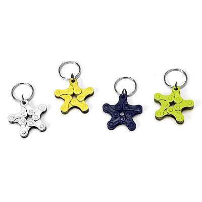 BIKE CHAIN STAR KEYCHAINS