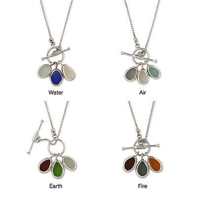 NATURAL ELEMENTS SEA GLASS NECKLACES