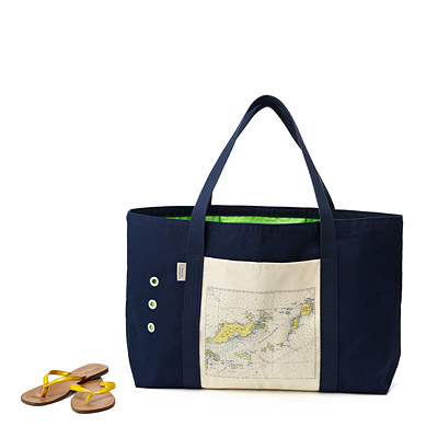 CUSTOM MAP BEACH TOTE