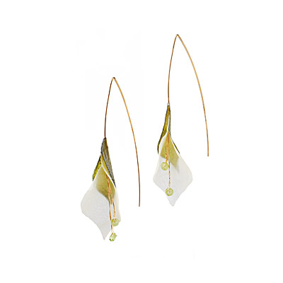 PARCHMENT BLOSSOM EARRINGS