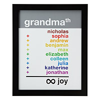 Grandma Infinite Joy Personalized Art