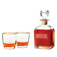 yours, mine, and ours decanter set