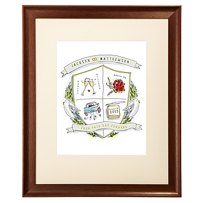 PERSONALIZED WEDDING CREST