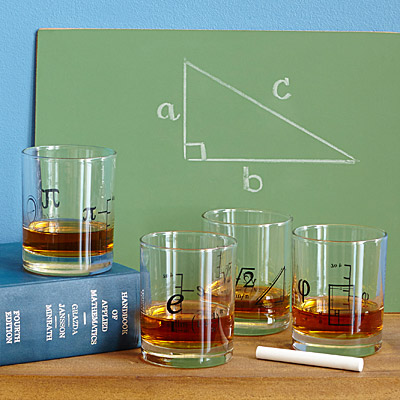 MATH GLASSES - SET OF 4