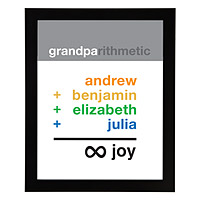GRANDPA INFINITE JOY PERSONALIZED ART