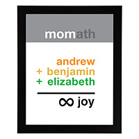 Mom Infinite Joy Personalized Art