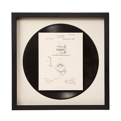 PHONOGRAPH PATENT WALL ART