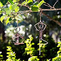 Yoga Pose Hanging Sculptures