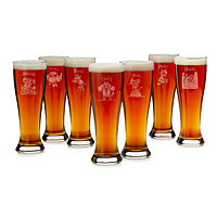 Seven Deadly Sins Pilsner Glasses - Set of 7