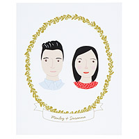 PERSONALIZED COUPLE CAMEO PORTRAIT