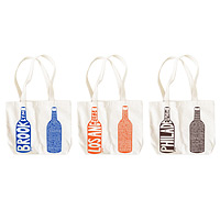 double wine tote - cities