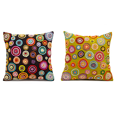 HAND EMBROIDERED PILLOWS