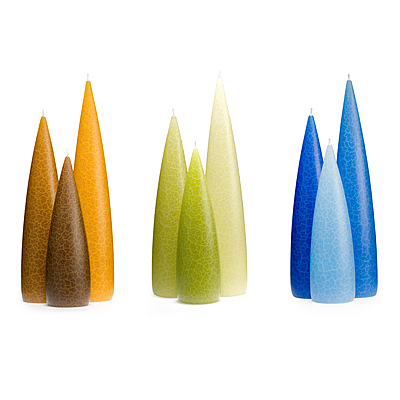 TEARDROP CANDLE TRIO - TALL
