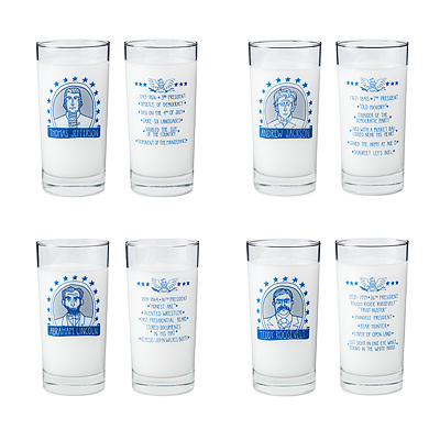 PRESIDENTIAL GLASSES - SET OF 4
