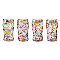 Multi Cirrus Tumblers - Set of 4