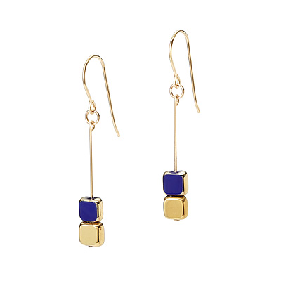 HANGING CUBE EARRINGS