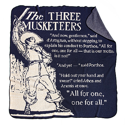 THREE MUSKETEERS STORYBOOK BLANKET