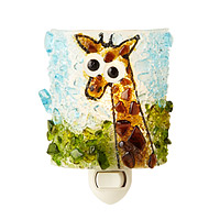 RECYCLED GLASS GIRAFFE NIGHT LIGHT