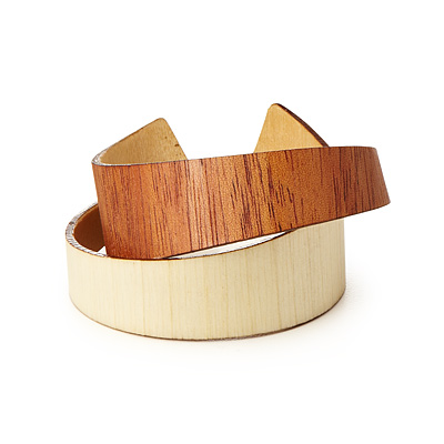 MAHOGANY AND ASPEN WOODEN CUFF
