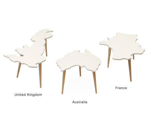 INTERNATIONAL COUNTRIES SIDE TABLES