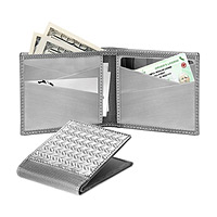 RFID-Blocking Herringbone Bifold Wallet